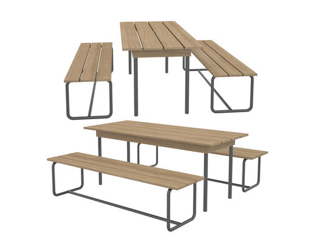 现代简约, 实木, 户外, 桌椅组合