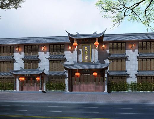 外观, 酒店外观, 中式酒店外观, 中式外观, 古建筑
