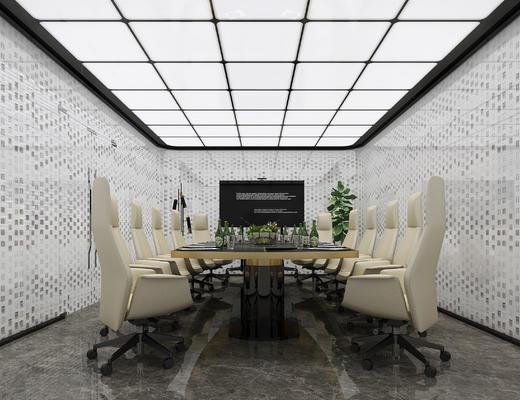 会议室, 会议桌, 办公桌, 办公椅, 桌椅