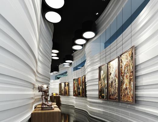 走廊, 过道, 展览, 展厅