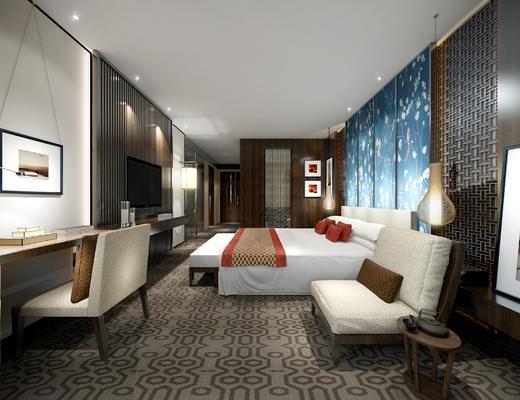 客房, 酒店客房, 包间, 单人间, 中式客房