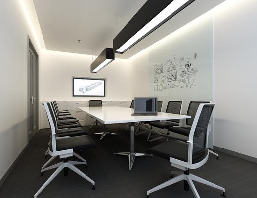 会议室, 会议桌, 桌椅组合, 办公桌