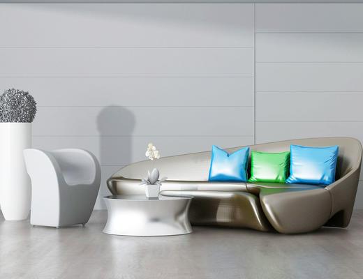 沙发组合, 沙发茶几组合, 后现代