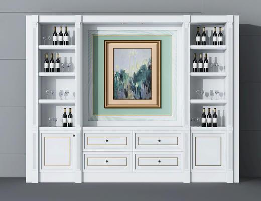 酒柜, 置物柜, 红酒