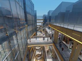 商场, 商城, 店铺, 走廊, 过道, 天桥