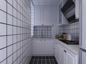 厨房, 橱柜, 抽油烟机, 冰箱